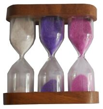 3 in 1 Hourglass, Wood Art Gift, Wood Sand, Sand Timer