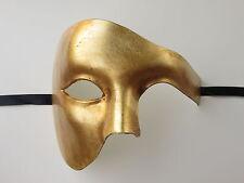 PHANTOM OF THE OPERA MENS MASQUERADE MARDI GRAS VENETIAN COSTUME HALF MASK GOLD