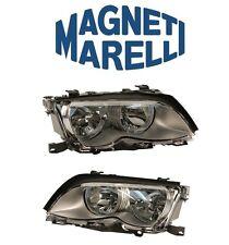 For BMW E46 325i 330i 01-05 Set of 2 Headlight Assembly Halogen Magneti Marelli