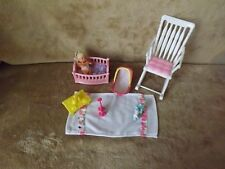 Barbie Baby KRISSY  ROOTED LONG BLONDE HAIR DOLL Barbie Rocking CHAIR MINI TOYS