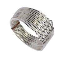 925k Sterling Silver 12 Band Turkish Chain Princess Puzzle Ring
