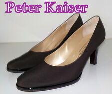 "Fabulous ""PETER KAISER"" Brown Canvas  LEATHER Court  Shoes UK 4.5  EU 37.5  £135"