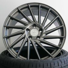 18 Zoll ET45 5x112 Keskin KT17 Grau Alufelgen für Audi A3 Sportback 8P, 8PA