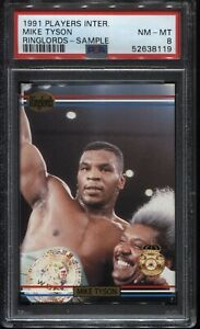 1991 RINGLORDS MIKE TYSON SAMPLE NM-MT PSA 8