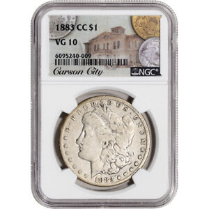 1883 CC US Morgan Silver Dollar $1 - NGC VG10