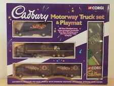 60010 Corgi Cadbury Motorway ERF, Scania & Volvo Truck Set & Playmat, unopened