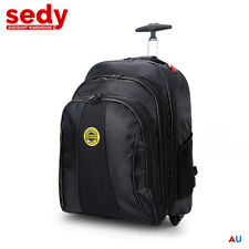 Heavy Duty Tool Backpack On Wheels Bag Laptop Multiple Compartment Storage Box