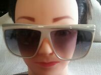 Vintage Laura Biagiotti Oxsol P-18137 Grey Marble Brow White Sunglasses Italy