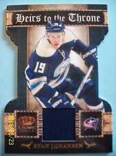 """11-12 Crown Royale """"Heirs to the Throne Materials"""" # 29 Ryan Johansen Jersey RC!"""