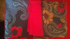 """Lot Of 2 Vintage Marco Corsari Scarf Italy 80's Floral Red Blue 30"""" Free Ship"""