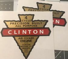 Clinton 4 Cycle engine decal reproduction Early Iowa; C2 Set 2
