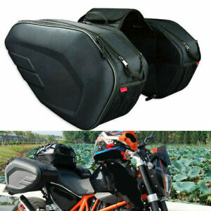 Motorcycle Pannier Bags Saddlebag Luggage Saddle Bags with Rain Cover For Sale