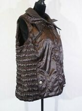 Lane Bryant Women's Size 14/16 Brown Puffer Zip Up Vest with Collar