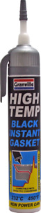 Granville High Temperature Temp BLACK Instant Gasket Silicone Sealant Can 200ml