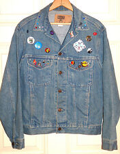 Gap Men's Small Vtg Denim Jacket One of a Kind, Colored Studs & Pins, Excellent