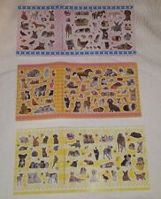 3 Sheets of Cute Animal Stickers, Dog Cat Horse Stickers Reward Sticker Kids