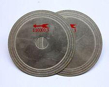 "2 Pcs 4.5"" Ultra thin diamond lapidary saw Cutting Blade Disc 3/4"" Arbor Jewelry"