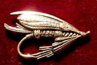 Quality Pewter Salmon Trout  Fly Fishing Pin