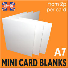 1000 x A7 MINI White Card Blanks TRADE Thank You Cards - Crafts