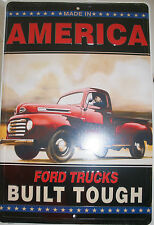 Built Ford Tough Man Cave Shop Parking Sign License truck super logo Made in USA