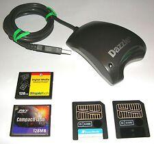 CARD READER + (2) 64mb Smart Media + (2) 128mb Compact Flash MEMORY CARD SET