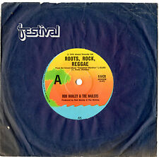 "BOB MARLEY & THE WAILERS - ROOTS ROCK REGGAE - RARE 7""45 VINYL RECORD 1976"