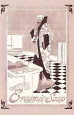 Nostalgia Postcard Erasmic Soap Advertisement 1918 Reproduction Card NS20