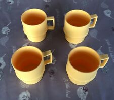 Tupperware Yellow Cups X4 - Vintage