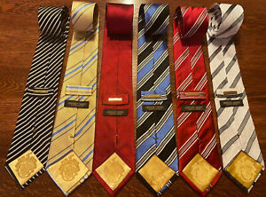 Lot of 6 DONALD TRUMP Signature Collection Ties... Very Collectable -GOLD BAR