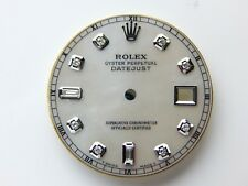 Rolex Men's Datejust S-S White MOP Mother of Pearl with 8+2 Diamond Dials