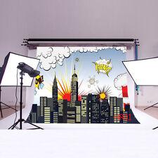 7X5FT Super Hero Vinyl Studio Backdrop Photography Photo Props Background HR01