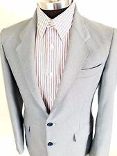 VTG 70s Anchorman Costume Blazer Levis Action Suit Herringbone Size 38R Blue HTF