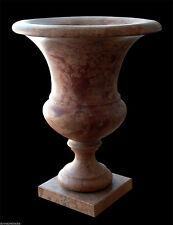 Grande Vaso Marmo Rosso Verona H.60cm Arredi Esterni Design Classico Marble Vase