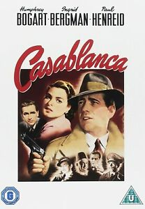 """Casablanca (DVD, 2000) Bogart, Bergman classic VGC 2 disc """"Here's lookin'"""""""