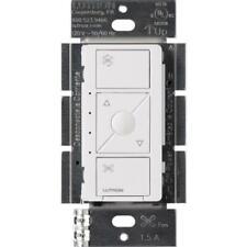 Caseta Wireless Smart Fan Speed Control, Single-Pole, White