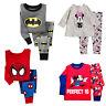Cartoon Baby Kids Boys Girls Cotton Nightwear Sleepwear Pj's Pajamas set 1-7Y
