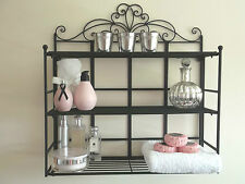 French Vintage Style Wall Shelf Unit Storage Cabinet Bathroom Display Rack Hall