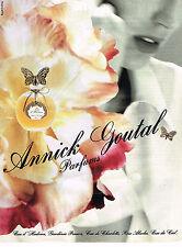 PUBLICITE ADVERTISING 045  1991  ANNICK GOUTAL  parfum femme  EAU D'ADRIEN