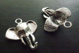 Elephant Pendant Tibetan Antique Silver Tone Jewellery Pack of 10