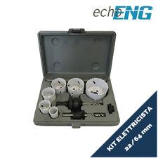 Seghe a tazza bi metalliche 6 pz 22 - 64 mm frese set valigetta UT 10 STG0