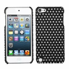 Asmyna Dots Black/White Diamante Back Protector Cover for iPod touch 5