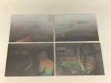 STAR TREK 25th ANNIVERSARY Impel 1991 Complete HOLOGRAM Chase Card Set H1-H4