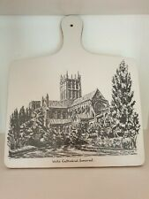 Vintage Melamine Chopping Board Wells Cathedral Somerset 1970's