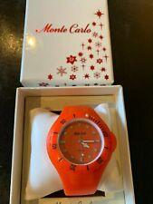 Reloj Deportivo Naranja Monte Carlo en caja original.