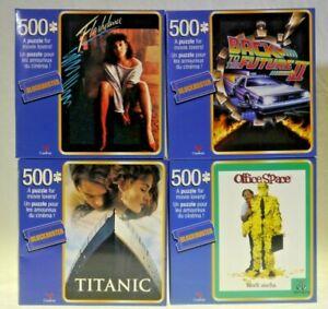 NEW Lot 4 Blockbuster 500 Piece Puzzle Office Space Flash Dance Titanic FUTURE