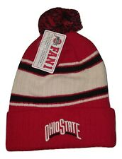 Ohio State Buckeyes Cuffed Knit Beanie with Pom Hat NCAA Headwear