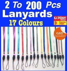 Bulk New 2 to 50 Lanyards Neck Strap for Badge Mobile Phone USB Flash