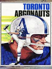 Vintage CFL Toronto Argonauts Color Poster Print 8 X 10 REPRINT Photo Picture
