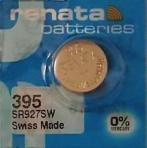 Renata 395 SR927SW Silver Oxide Battery 1.55V, 1PC