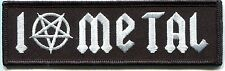 I LOVE METAL pentagram EMBROIDERED IRON-ON PATCH thrash speed **FREE SHIPPING**